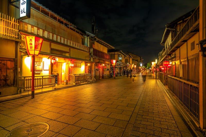 Νύχτα περιοχής Hanamachi στοκ εικόνες