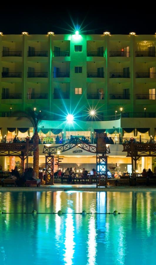 νύχτα πολυτέλειας ξενο&delta στοκ φωτογραφία