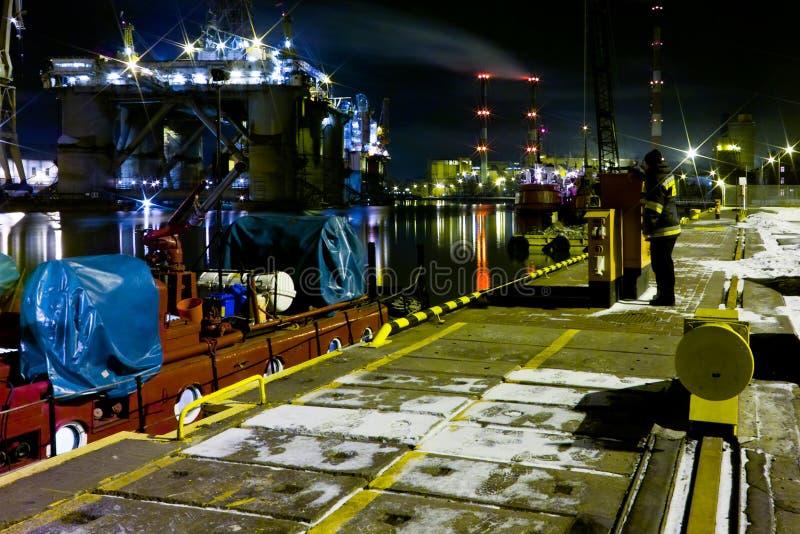 νύχτα πυροσβεστών στοκ φωτογραφία με δικαίωμα ελεύθερης χρήσης