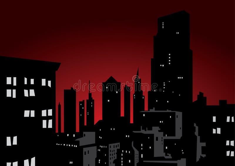 νύχτα πόλεων απεικόνιση αποθεμάτων