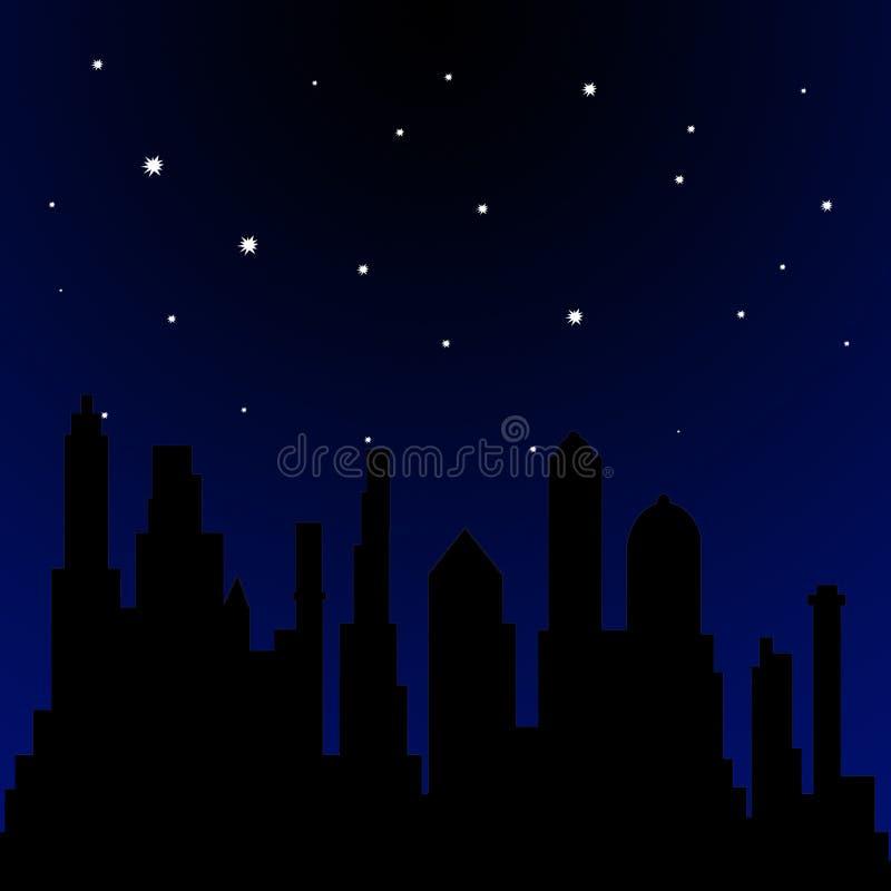 νύχτα πόλεων διανυσματική απεικόνιση