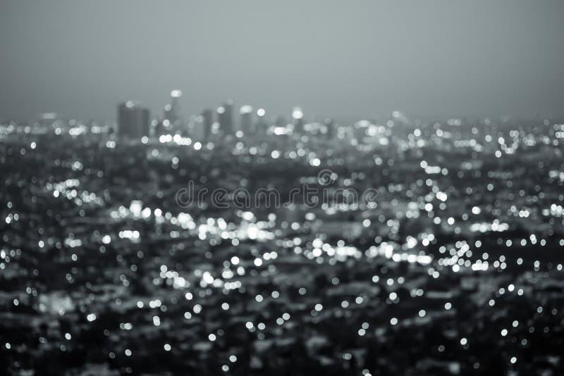 Νύχτα πόλεων του Λος Άντζελες στοκ εικόνες