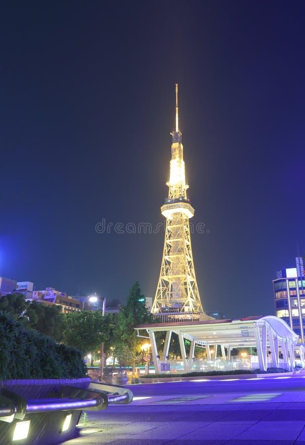 Νύχτα πύργων TV του Νάγκουα στοκ εικόνες