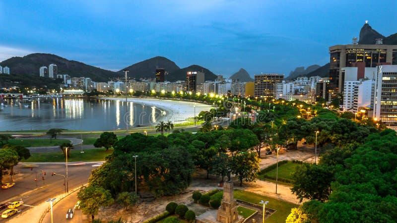 Νύχτα Ρίο ντε Τζανέιρο στοκ φωτογραφίες με δικαίωμα ελεύθερης χρήσης