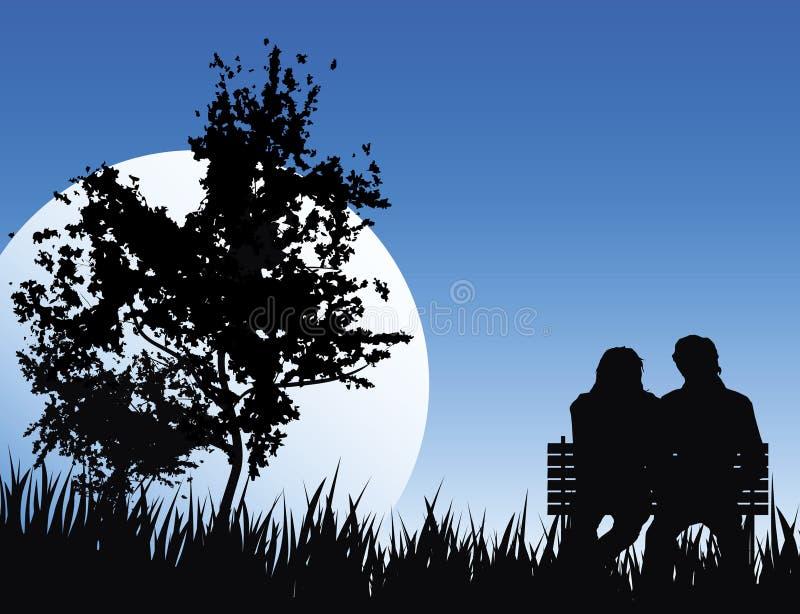νύχτα ρομαντική ελεύθερη απεικόνιση δικαιώματος