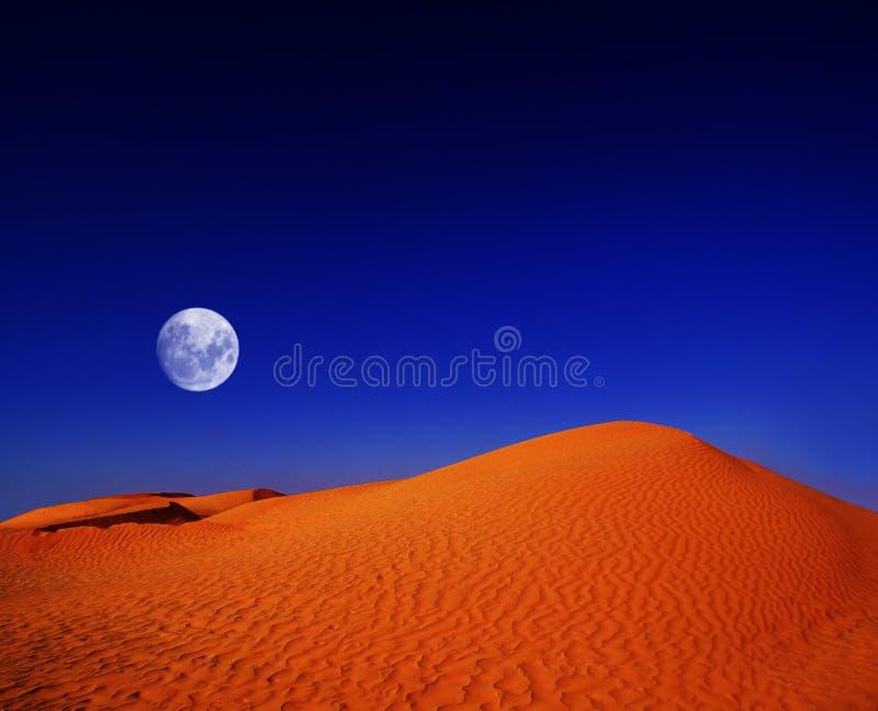 νύχτα Σαχάρα ερήμων στοκ εικόνες