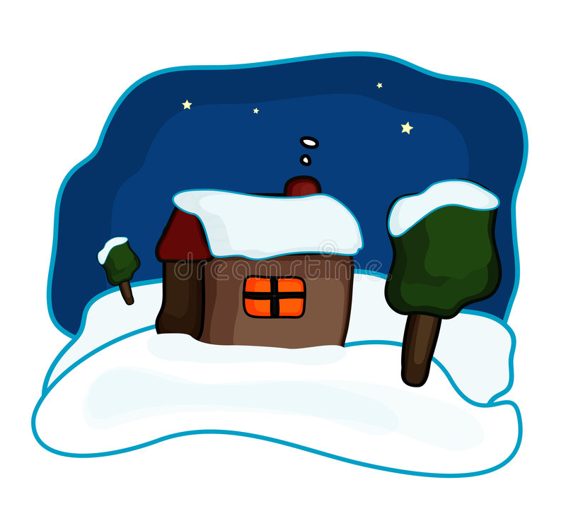 Download νύχτα σπιτιών διανυσματική απεικόνιση. εικονογραφία από δάσος - 383302