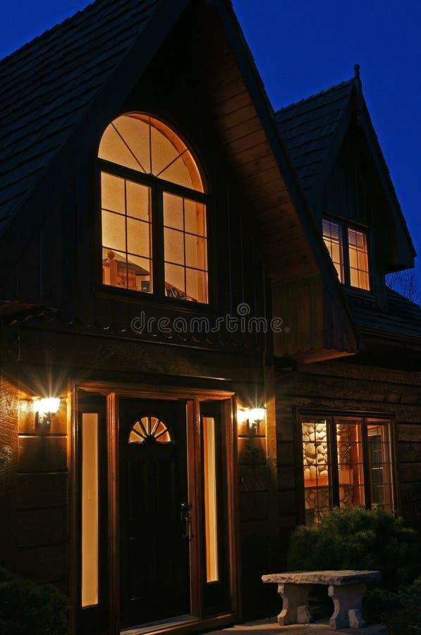 νύχτα σπιτιών στοκ εικόνα