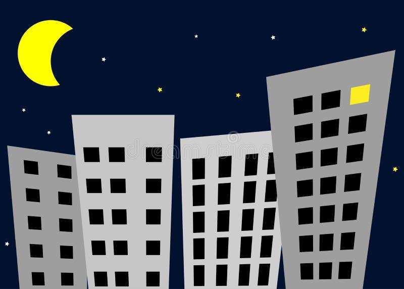 Νύχτα στην πόλη -  απεικόνιση αποθεμάτων