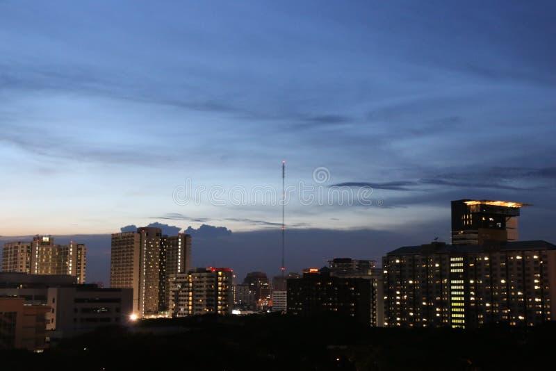 Νύχτα στη Μπανγκόκ, Ταϊλάνδη στοκ εικόνες