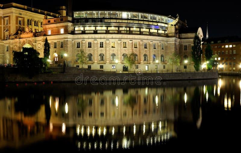 νύχτα Στοκχόλμη στοκ φωτογραφία