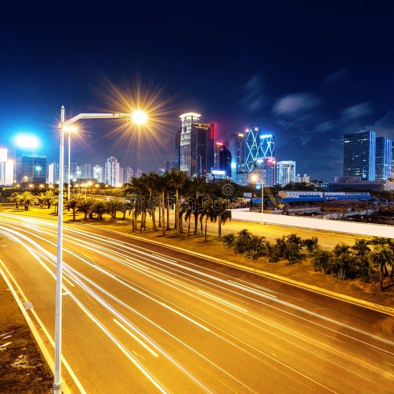 Νύχτα της Κίνας Shenzhen στοκ φωτογραφία με δικαίωμα ελεύθερης χρήσης