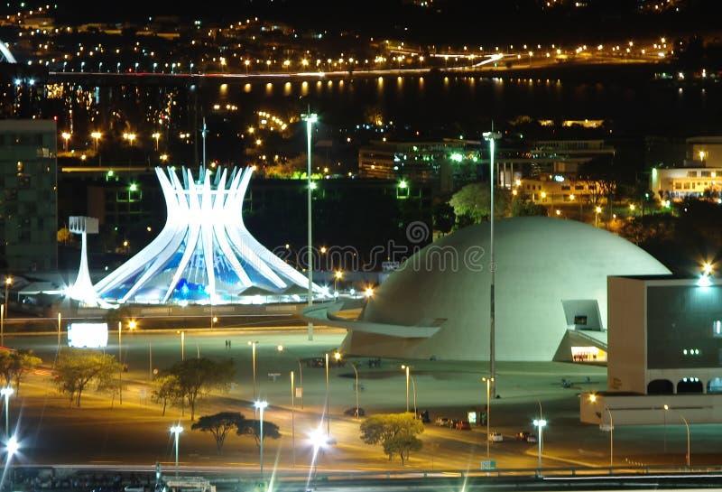 νύχτα της Μπραζίλια στοκ φωτογραφία με δικαίωμα ελεύθερης χρήσης