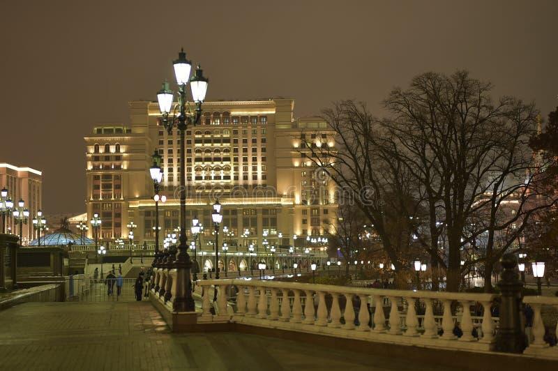 Νύχτα της Μόσχας στοκ εικόνες με δικαίωμα ελεύθερης χρήσης