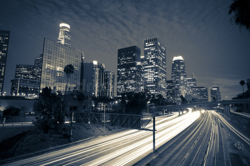 νύχτα της Angeles Los στοκ φωτογραφία με δικαίωμα ελεύθερης χρήσης