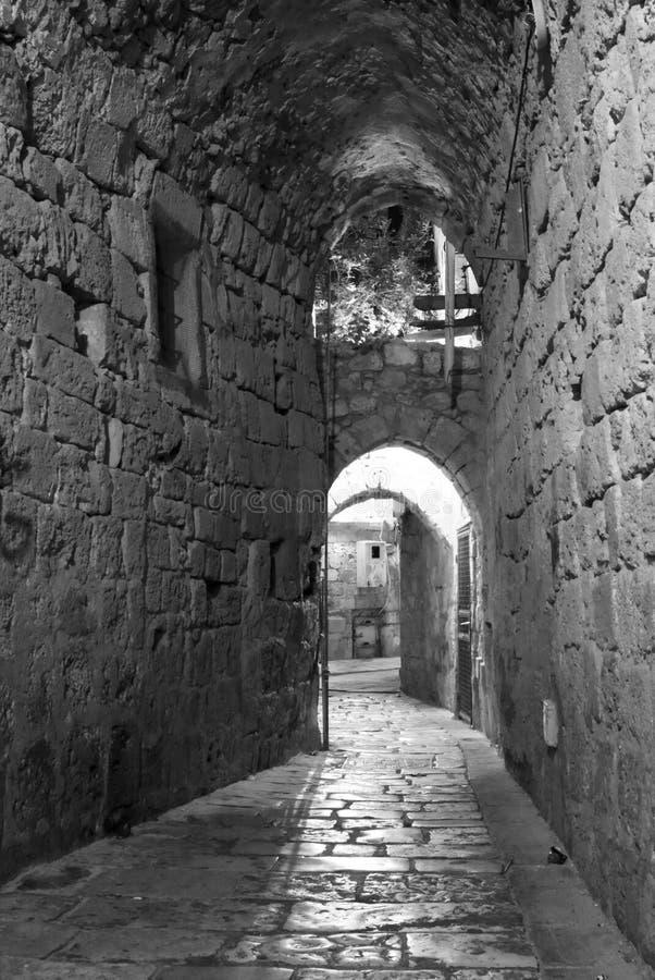 νύχτα του Ισραήλ akko στρέμματ&omic στοκ εικόνες