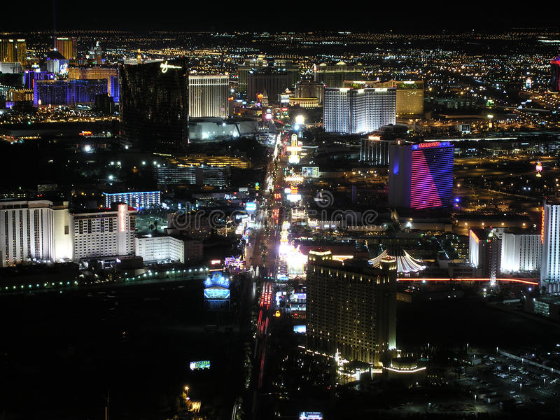 Νύχτα του Λας Βέγκας Blvd στοκ φωτογραφία με δικαίωμα ελεύθερης χρήσης