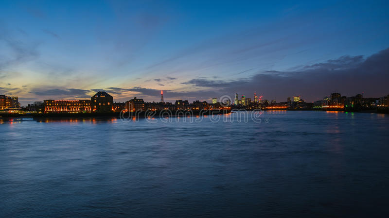 νύχτα του Λονδίνου στοκ εικόνα