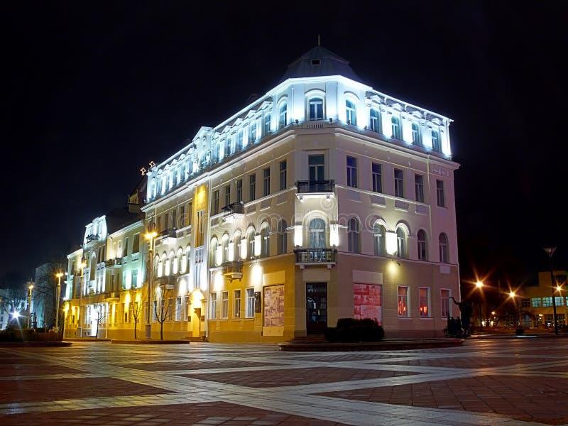 νύχτα του Μινσκ στοκ εικόνες