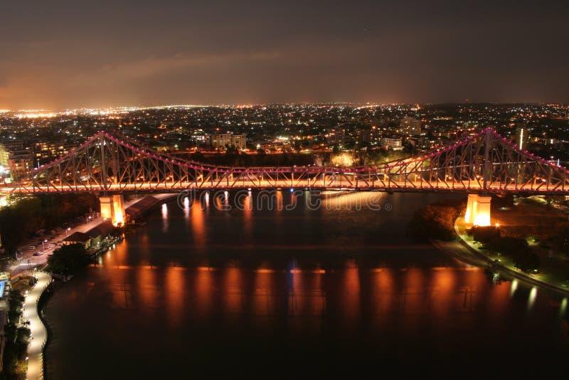 νύχτα του Μπρίσμπαν στοκ φωτογραφία με δικαίωμα ελεύθερης χρήσης