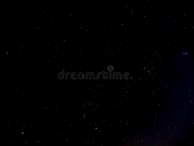 Νύχτα του ουρανού με τα αστέρια στοκ εικόνες με δικαίωμα ελεύθερης χρήσης