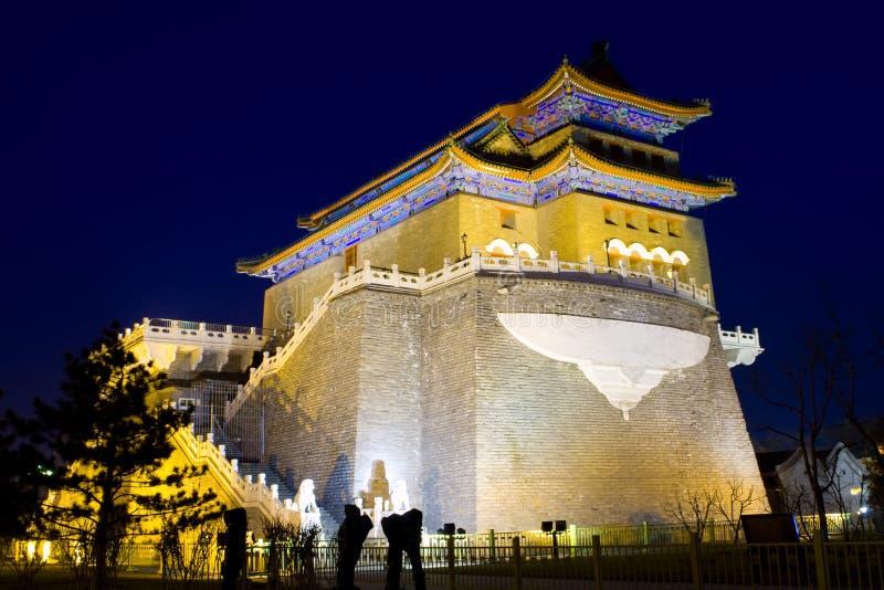 νύχτα του Πεκίνου στοκ εικόνα