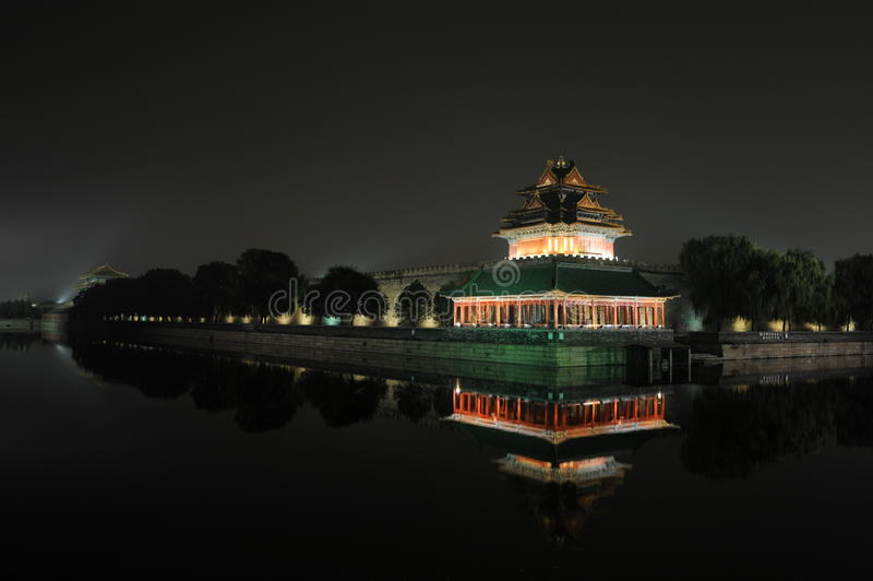 Download νύχτα του Πεκίνου στοκ εικόνα. εικόνα από σκηνές, παλάτι - 17050029