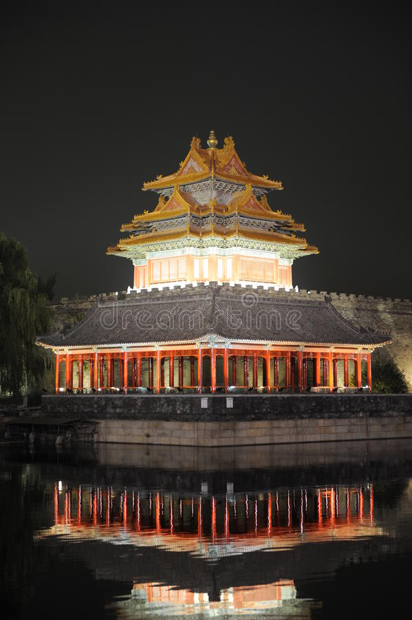 Download νύχτα του Πεκίνου στοκ εικόνες. εικόνα από αντανάκλαση - 17050092