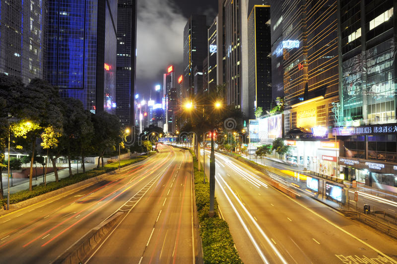 νύχτα του Χογκ Κογκ φυσ&i στοκ φωτογραφίες με δικαίωμα ελεύθερης χρήσης