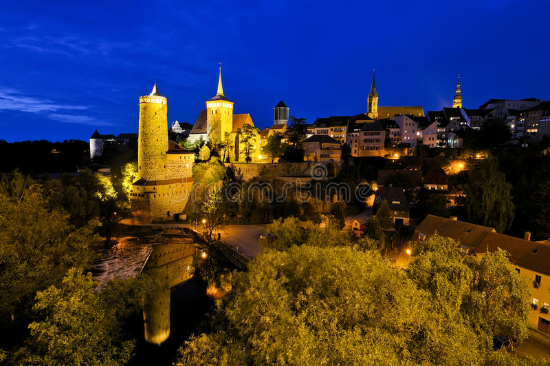 νύχτα του Bautzen στοκ εικόνα
