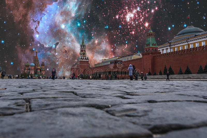 Νύχτα των κυρώσεων πέρα από τη Ρωσία στοκ εικόνες