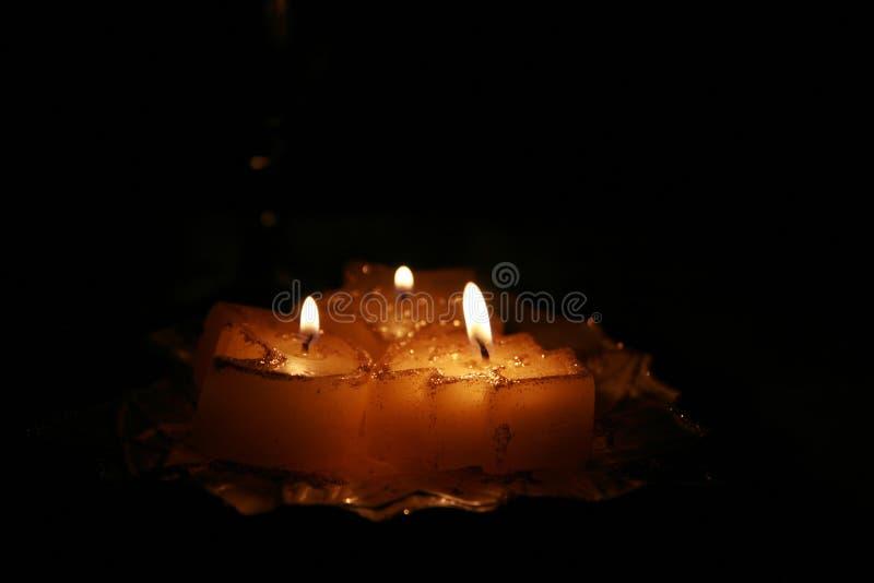 νύχτα Χριστουγέννων κεριών στοκ εικόνα με δικαίωμα ελεύθερης χρήσης