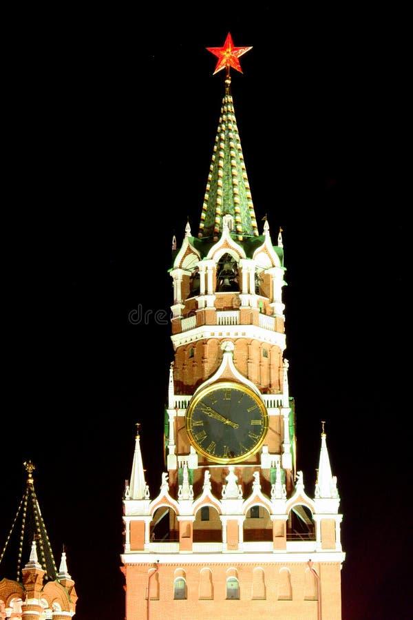 νύχτα 2 Κρεμλίνο Μόσχα στοκ εικόνα
