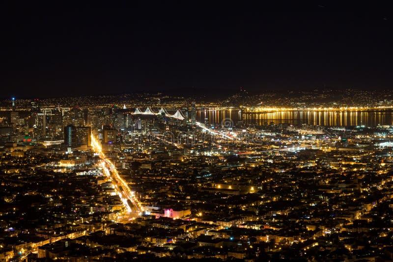 Νύχτα Bay Area στοκ εικόνα με δικαίωμα ελεύθερης χρήσης