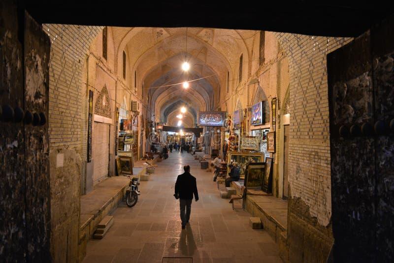 Νύχτα Bazaar, Ιράν στοκ εικόνες