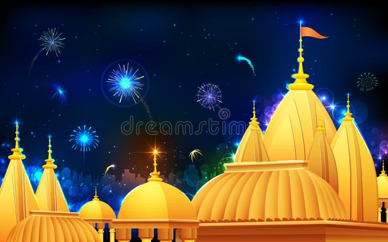 Νύχτα Diwali ελεύθερη απεικόνιση δικαιώματος
