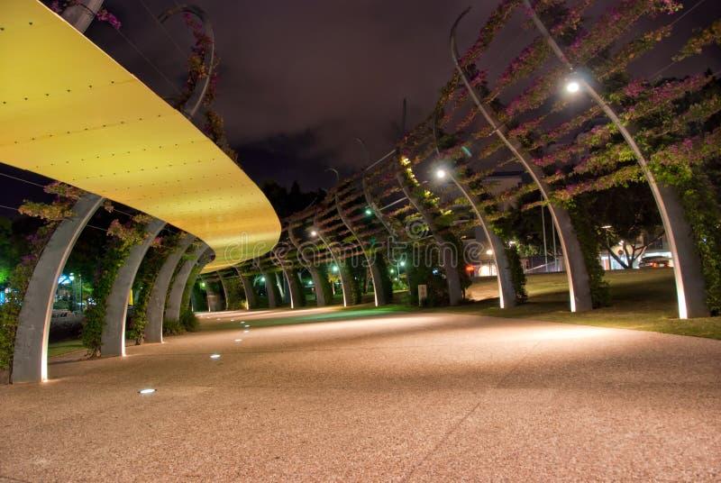 νύχτα Queensland πόλεων της Αυστραλίας Μπρίσμπαν στοκ εικόνα
