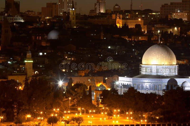νύχτα s της Ιερουσαλήμ στοκ εικόνα