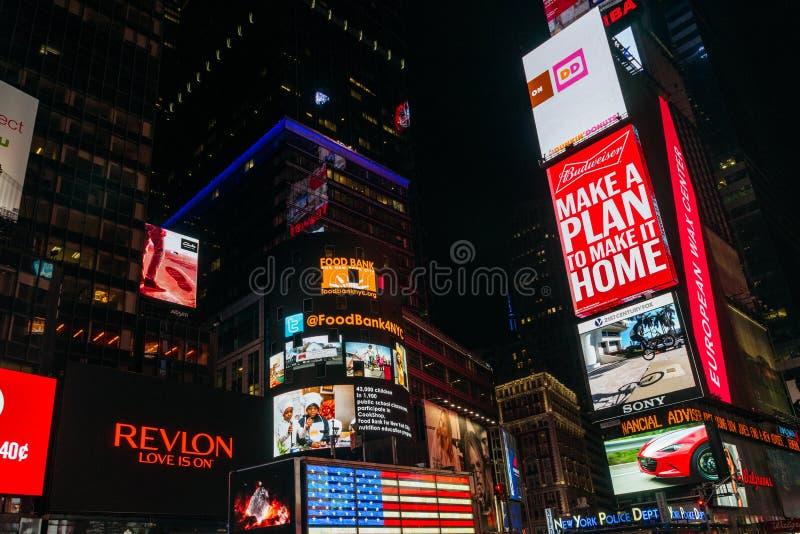 Νύχτα Times Square στη Νέα Υόρκη, ΗΠΑ στοκ φωτογραφίες με δικαίωμα ελεύθερης χρήσης