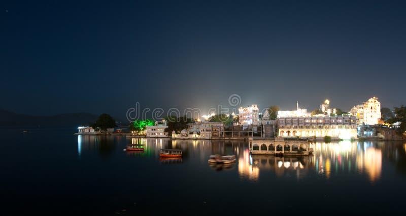 νύχτα udaipur στοκ εικόνες