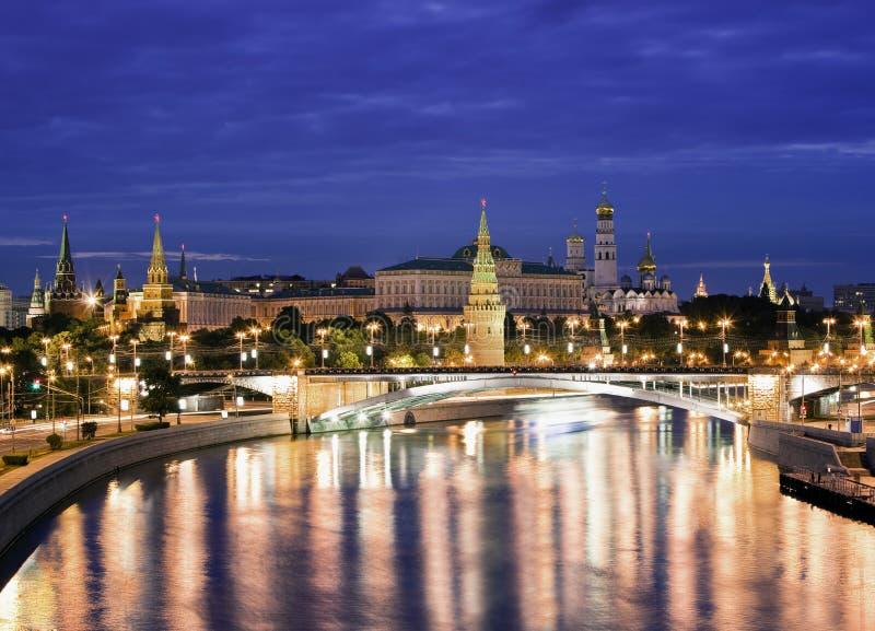 νύχτες της Μόσχας στοκ φωτογραφίες με δικαίωμα ελεύθερης χρήσης