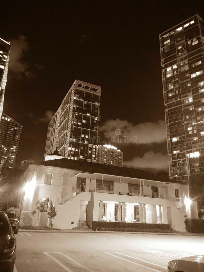 Νύχτες Brickel στοκ εικόνες