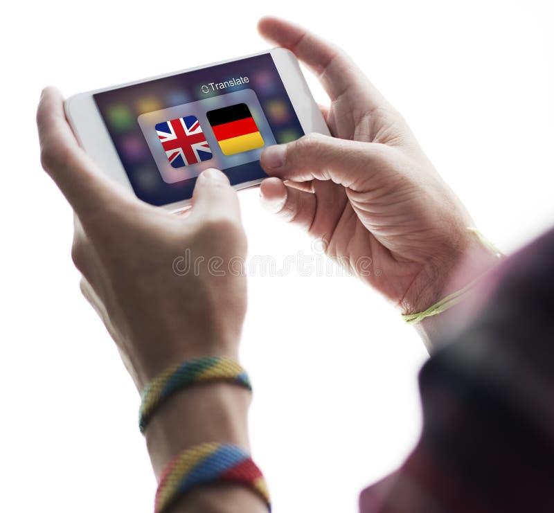 Ξένη έννοια μεταφράσεων του Word χωρών σημαιών στοκ φωτογραφία με δικαίωμα ελεύθερης χρήσης