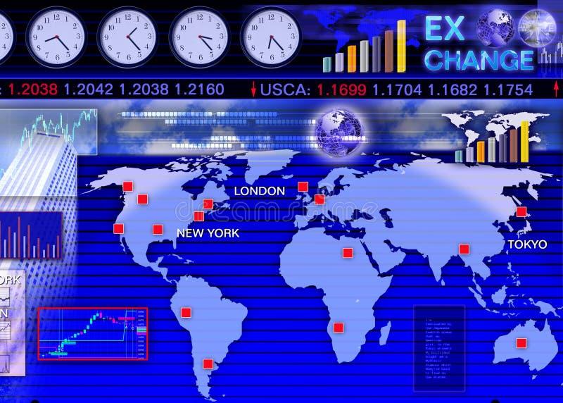 ξένη σκηνή αγοράς ανταλλαγής νομίσματος διανυσματική απεικόνιση