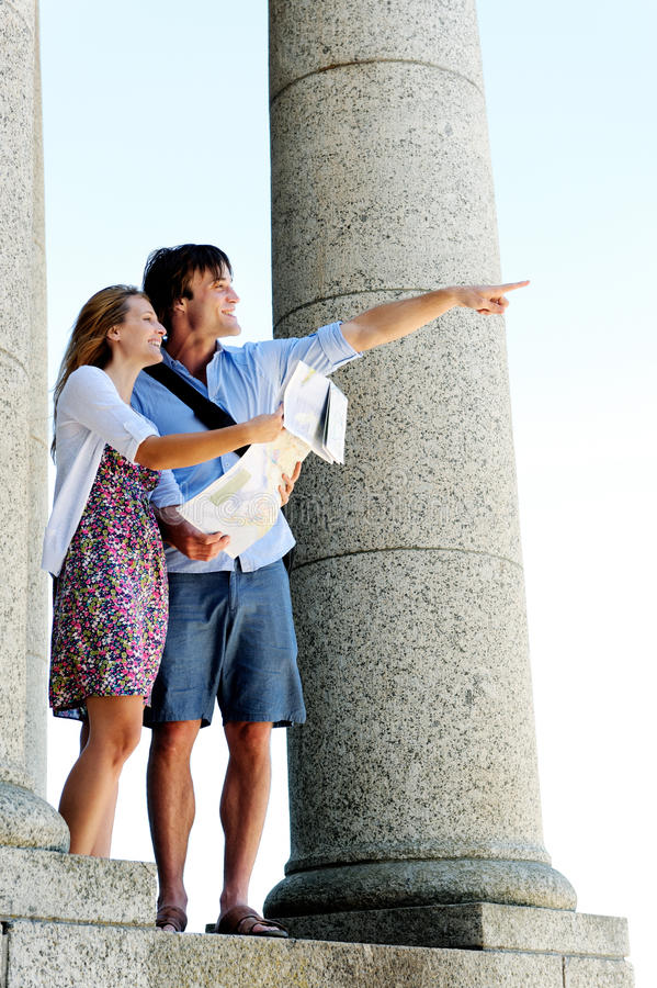 Ξένοιαστο ταξίδι τουριστών στοκ εικόνες