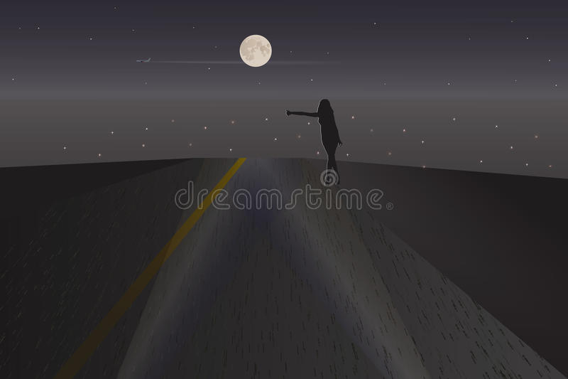Ξένος νύχτας ελεύθερη απεικόνιση δικαιώματος