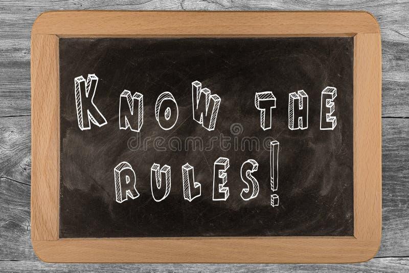 Ξέρτε τους κανόνες! - πίνακας κιμωλίας στοκ φωτογραφίες με δικαίωμα ελεύθερης χρήσης