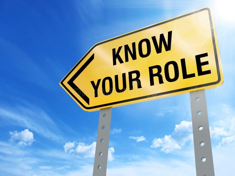 Ξέρτε το σημάδι ρόλου σας απεικόνιση αποθεμάτων