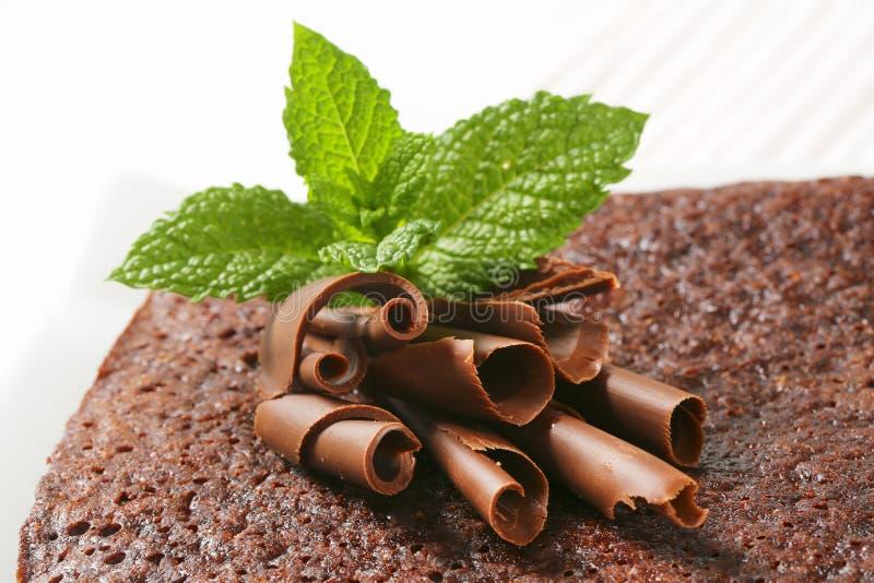 Ξέσματα και μέντα σοκολάτας στο κέικ στοκ φωτογραφία με δικαίωμα ελεύθερης χρήσης