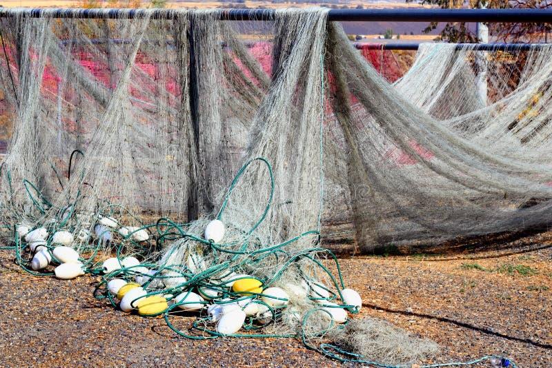 Ξήρανση διχτυών του ψαρέματος στοκ εικόνες με δικαίωμα ελεύθερης χρήσης